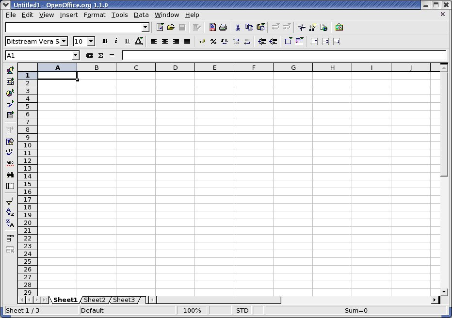 Figure 1: Blank spreadsheet (click for larger image)